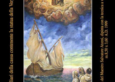 Nuovi quadri della Basilica del maestro Salvatore Atzeni: Arrivo della cassa contenente la Vergine